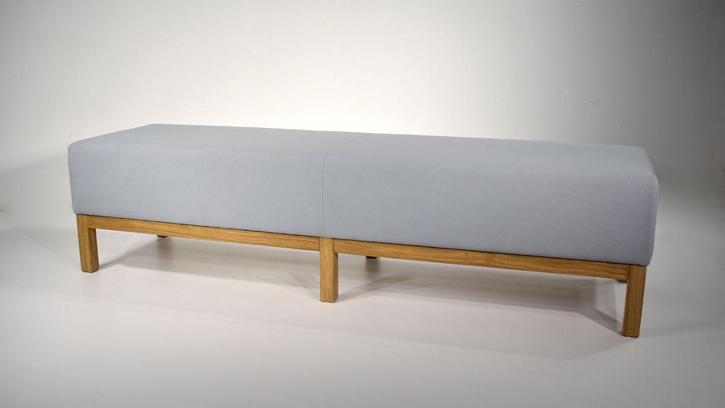 bench grey upholstered ottoman