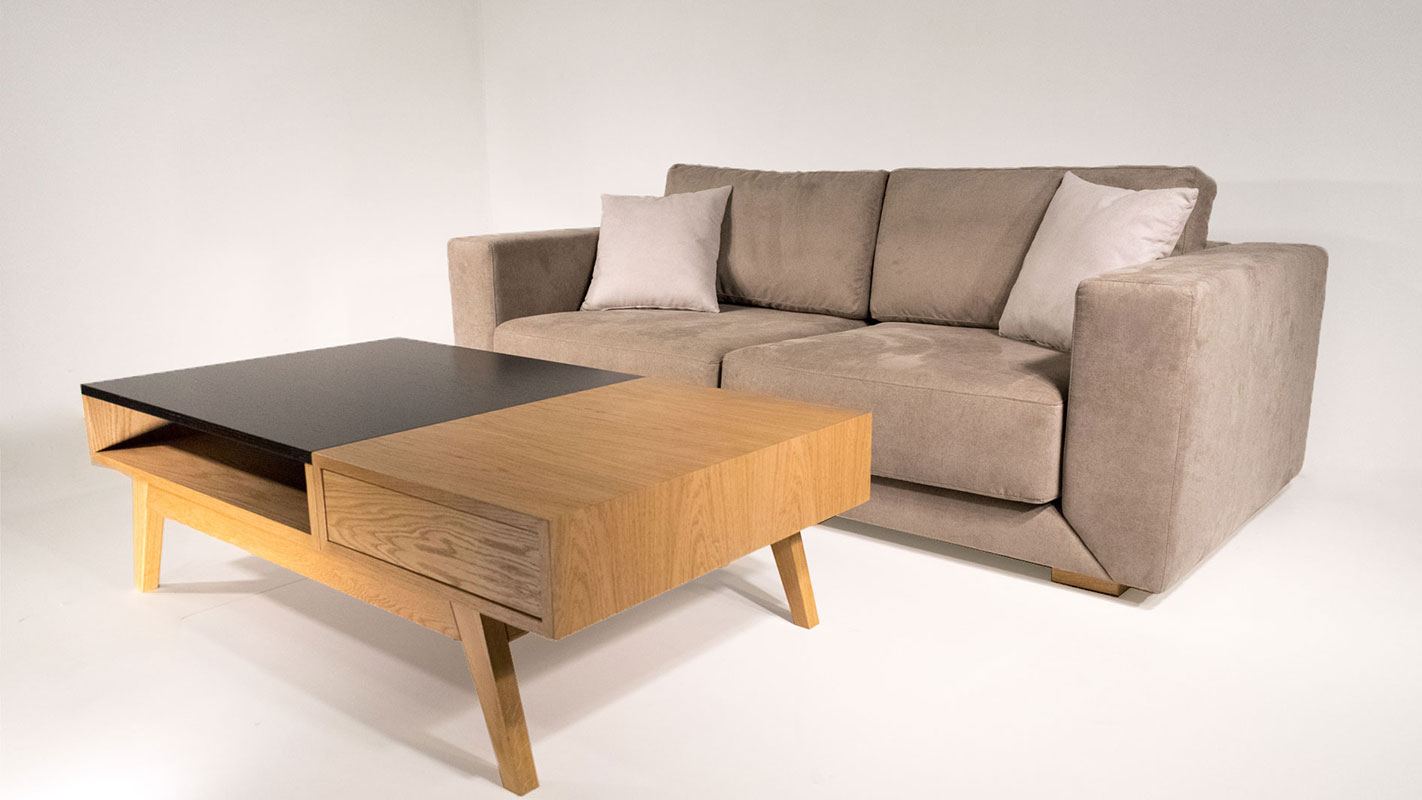 bwood black and natural oak coffee table