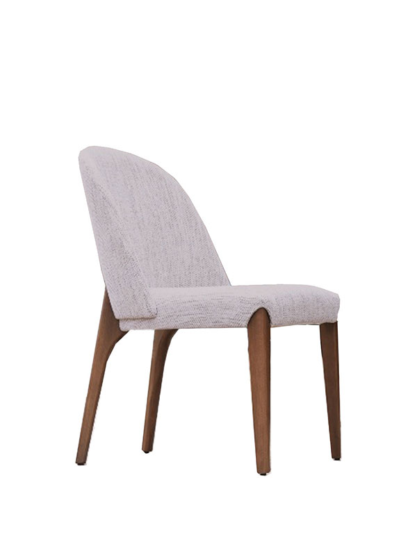 byork white upholstered chair
