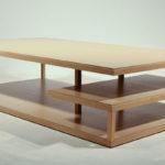 meandro long oak coffee table