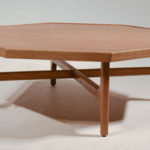 polygon oak coffee table