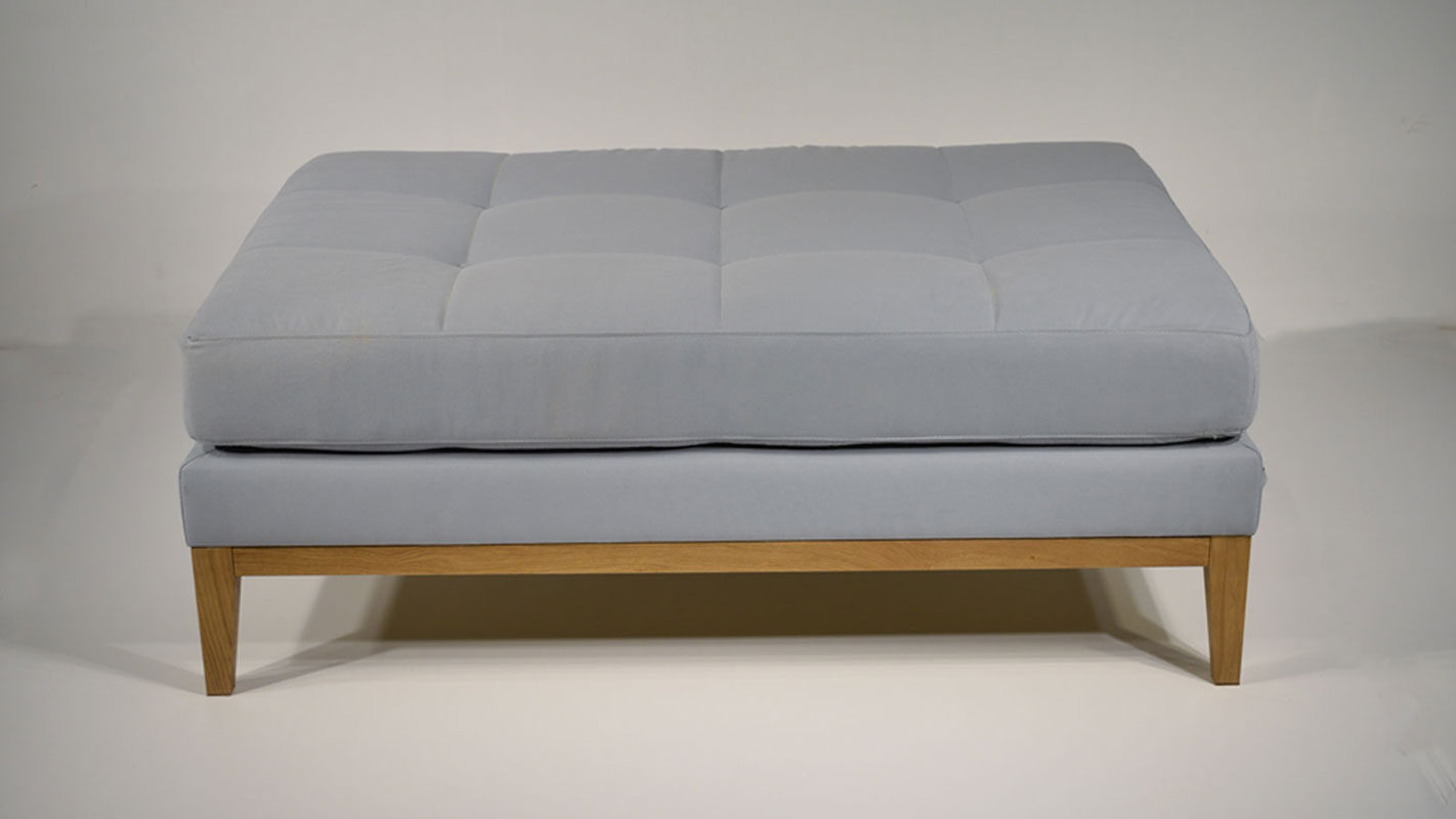 simple upholstered ottoman