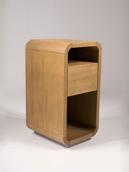 das nightstand with one drawer - soft closing mechanism