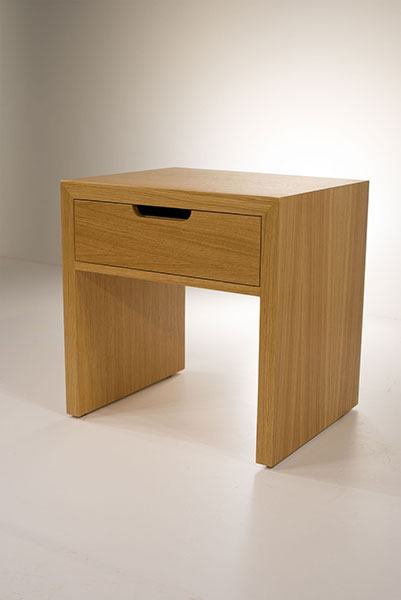 secret nightstand with one drawer - soft closing mechanism