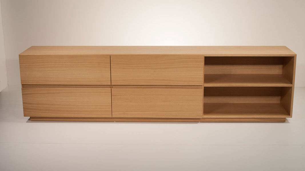 woody sideboard made of fine oak wood