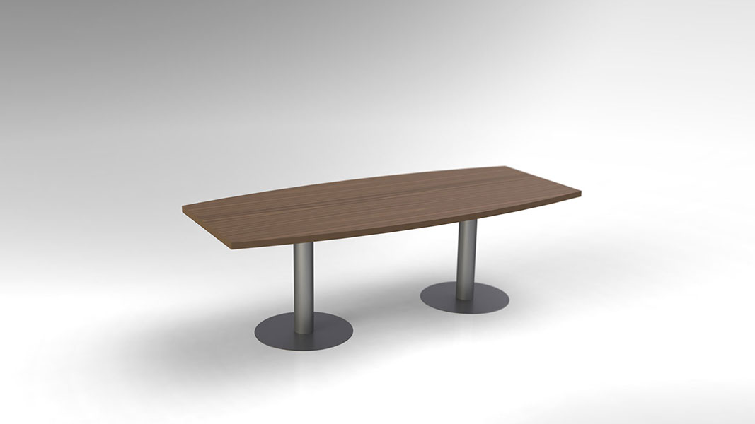 arc conference table with metal legs
