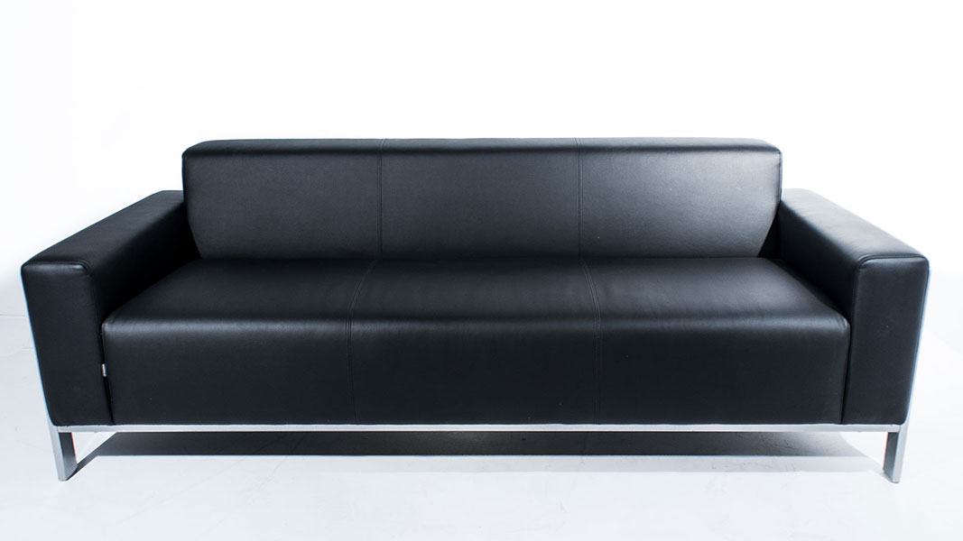 connection upholstered sofa with metallic details