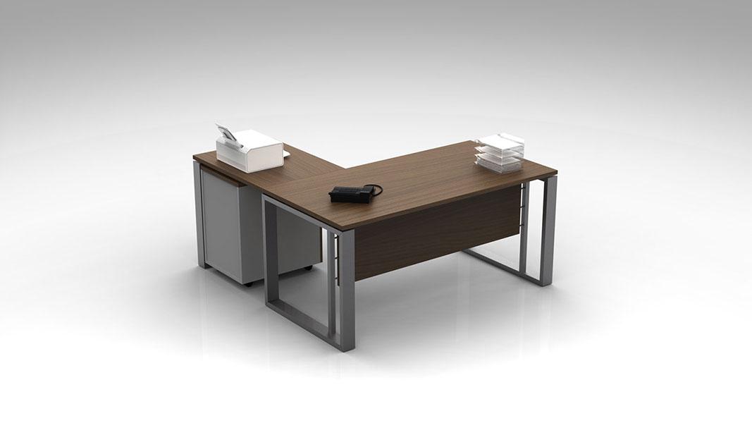 modern operator desk with metal legs