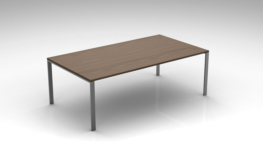 plane conference table with metal legs