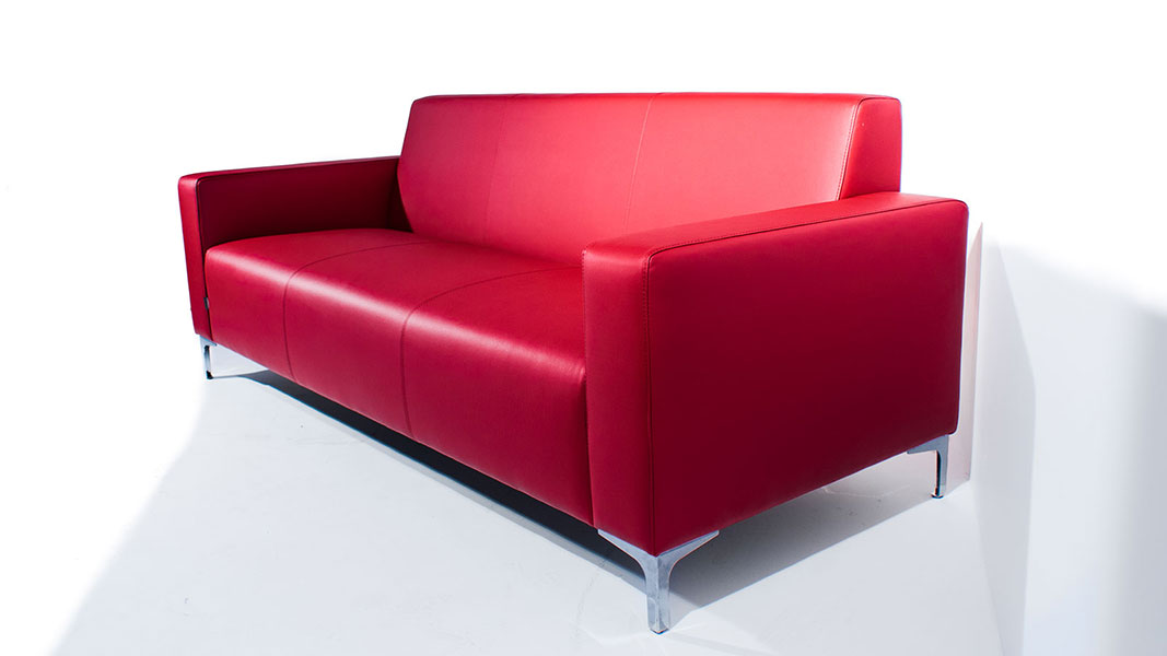wait upholstered sofa with metal legs