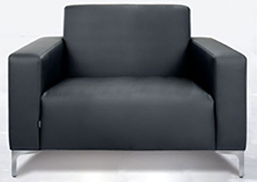 wait upholstered armchair with metal legs